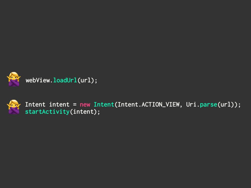 webView.loadUrl(url); Intent intent = new Inten...