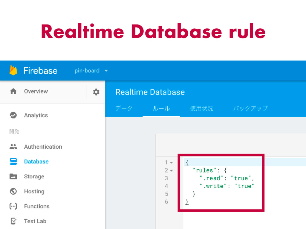 Realtime Database rule