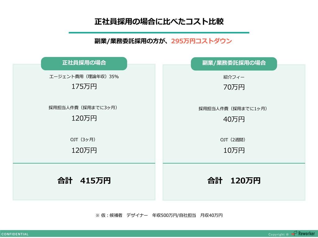 """合計 120万円 正社員採⽤の場合 $0/'*%&/5*""""- $PQZSJHIU! 合計 4..."""