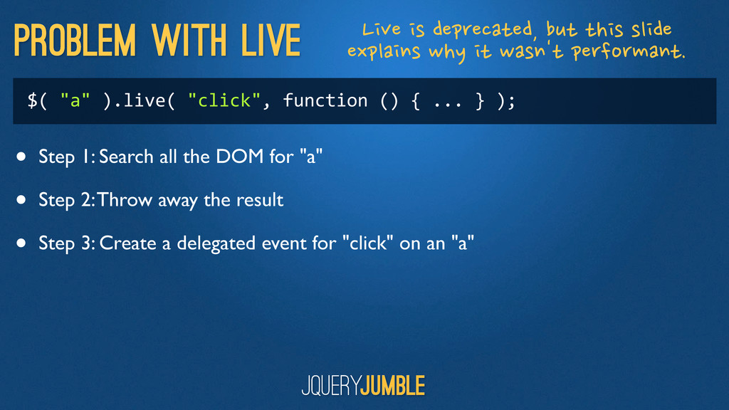"""Problem with live $( """"a"""" ).live( """"clic..."""