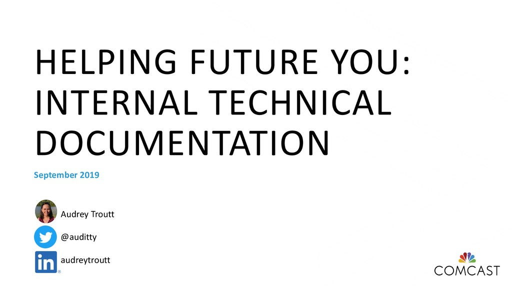 HELPING FUTURE YOU: INTERNAL TECHNICAL DOCUMENT...