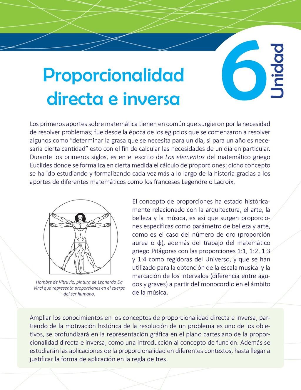6 Proporcionalidad directa e inversa Los primer...