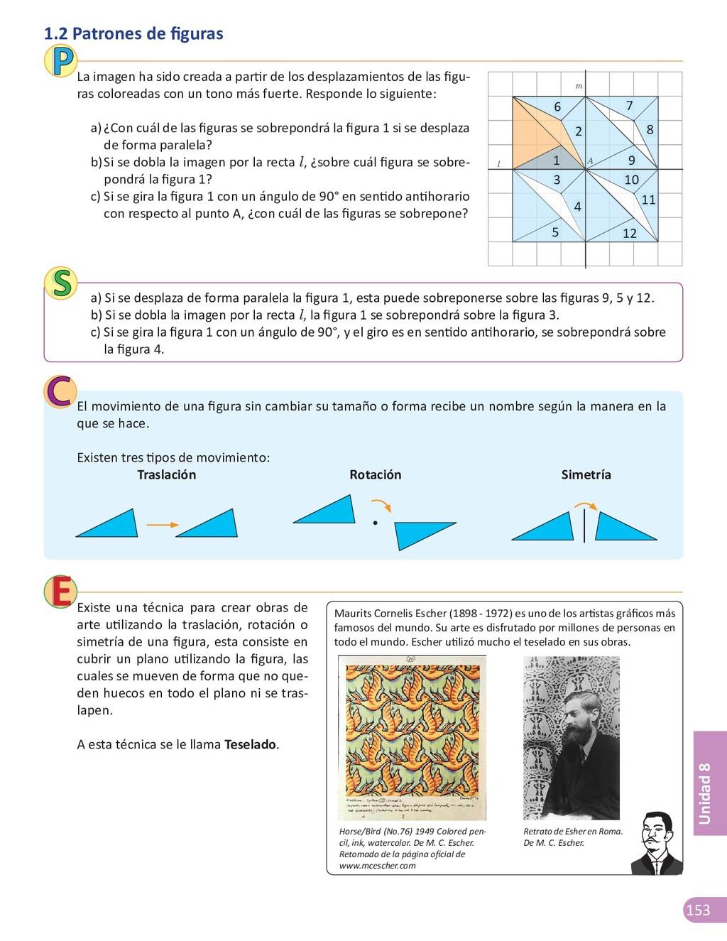 153 Unidad 8 1.2 Patrones de figuras La imagen ...