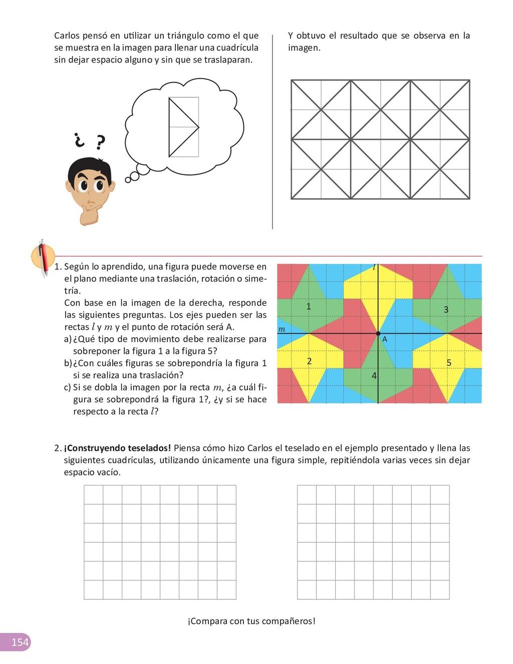 154 Carlos pensó en utilizar un triángulo como ...