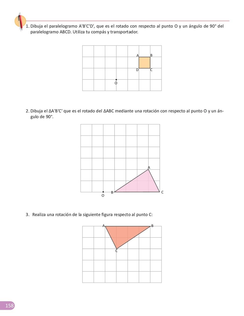 158 1. Dibuja el paralelogramo A'B'C'D', que es...