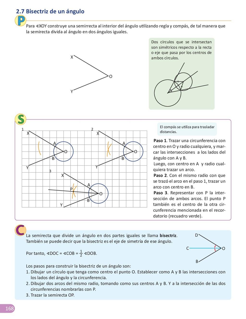 168 2.7 Bisectriz de un ángulo Para ∢XOY constr...