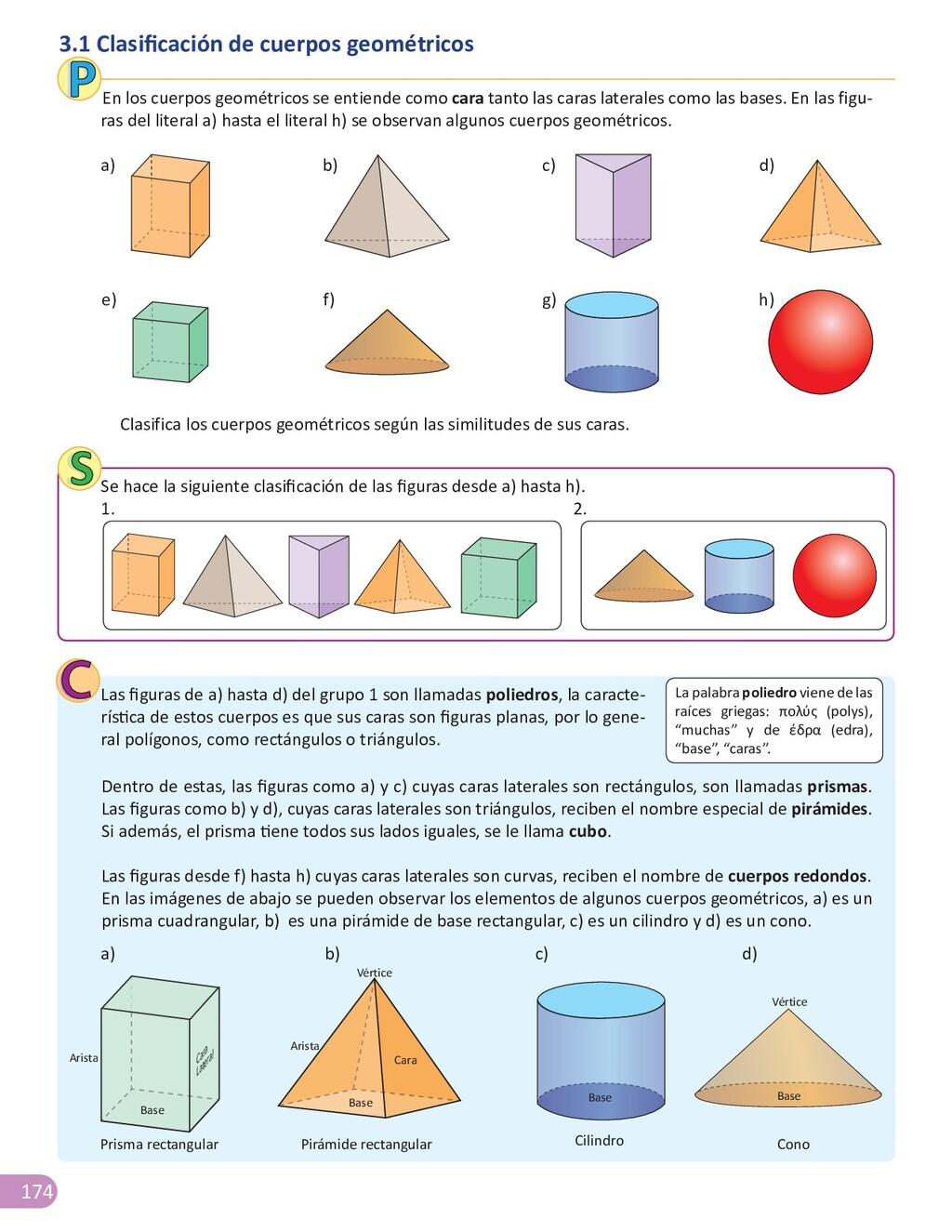 174 3.1 Clasificación de cuerpos geométricos En...