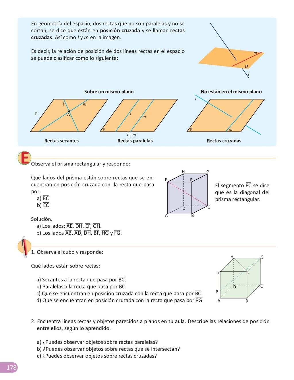 178 Observa el prisma rectangular y responde: Q...