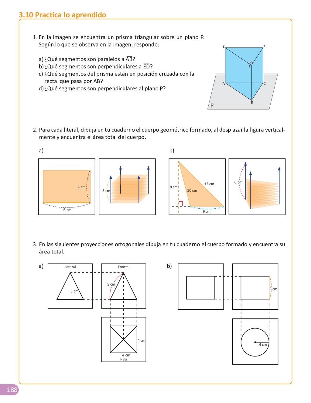 188 1. En la imagen se encuentra un prisma tria...