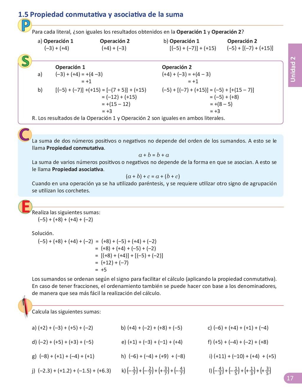 17 Unidad 2 1.5 Propiedad conmutativa y asociat...