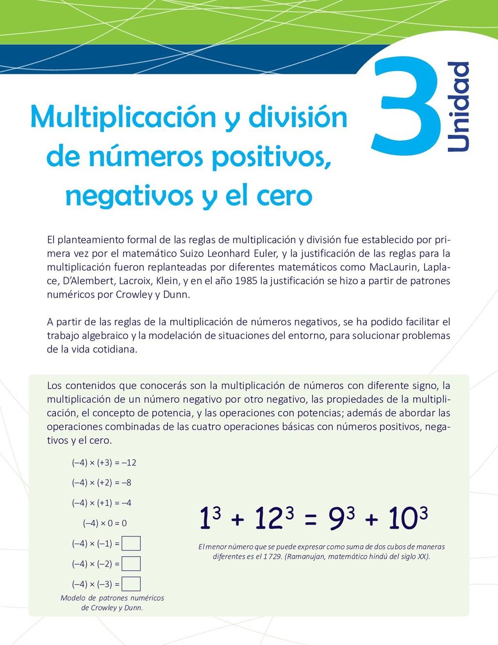 3 Multiplicación y división de números positivo...