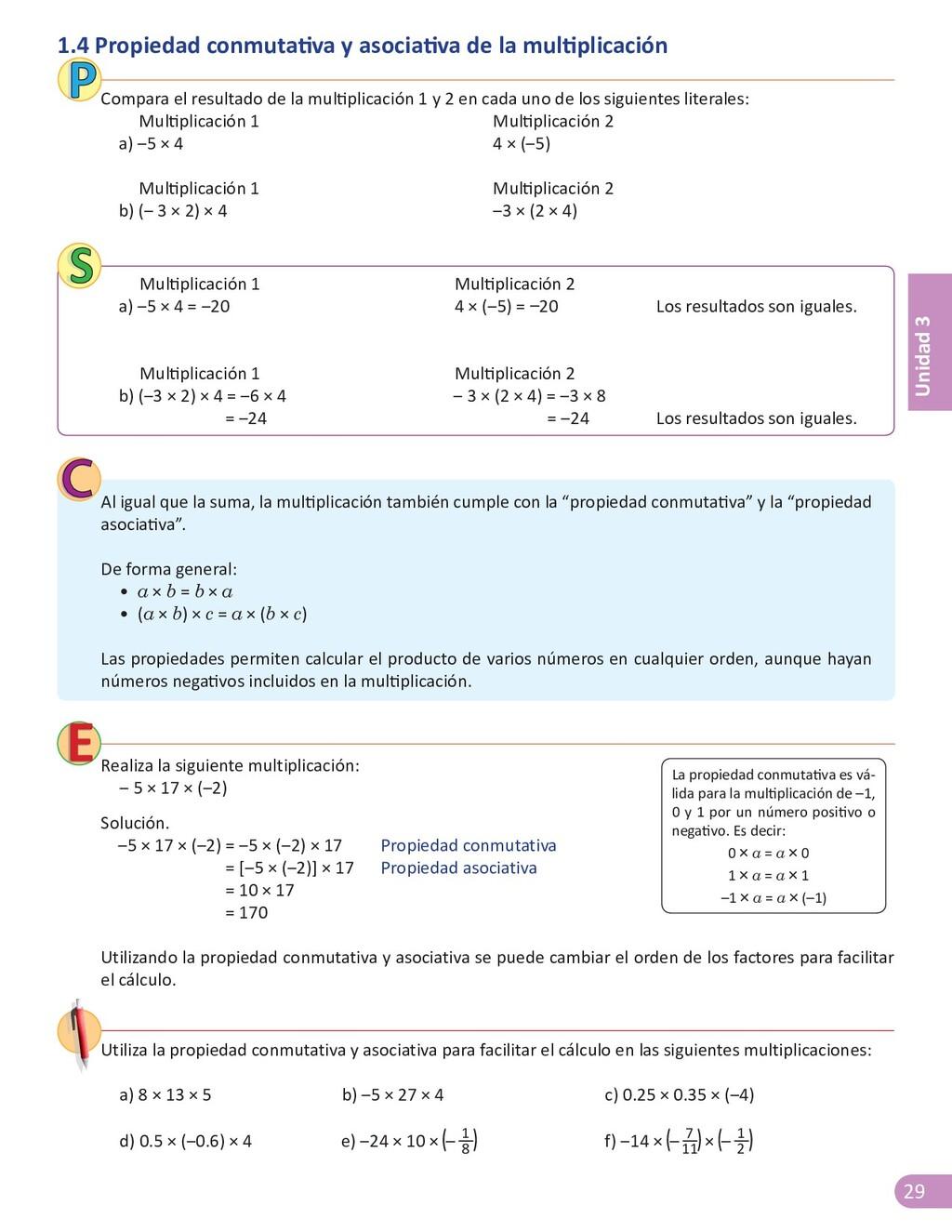 29 Unidad 3 1.4 Propiedad conmutativa y asociat...