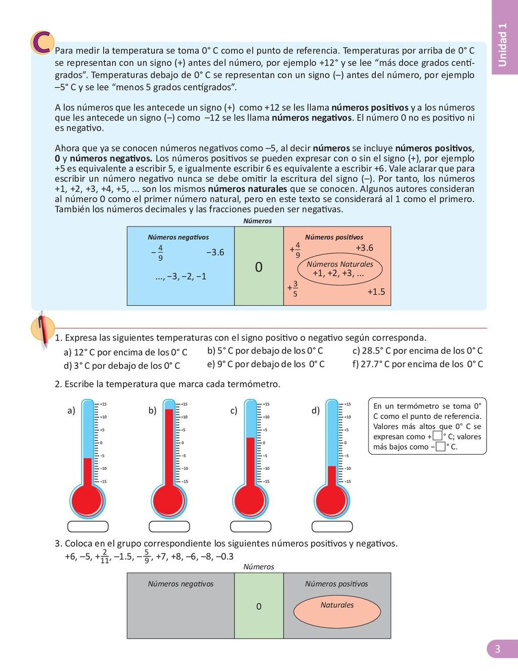3 Unidad 1 Para medir la temperatura se toma 0°...