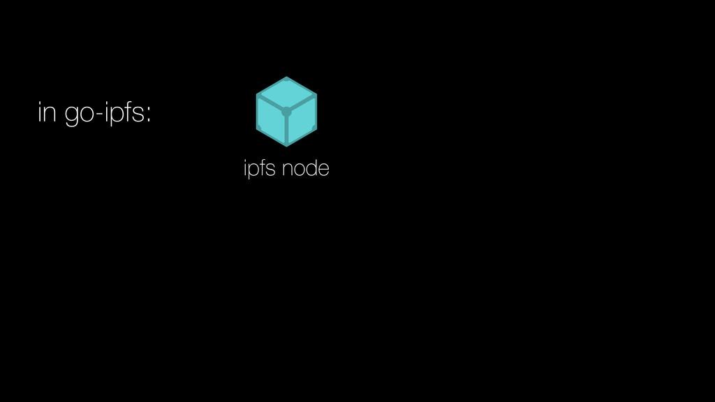 in go-ipfs: ipfs node