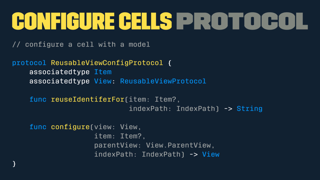 Configure cells Protocol // configure a cell with...