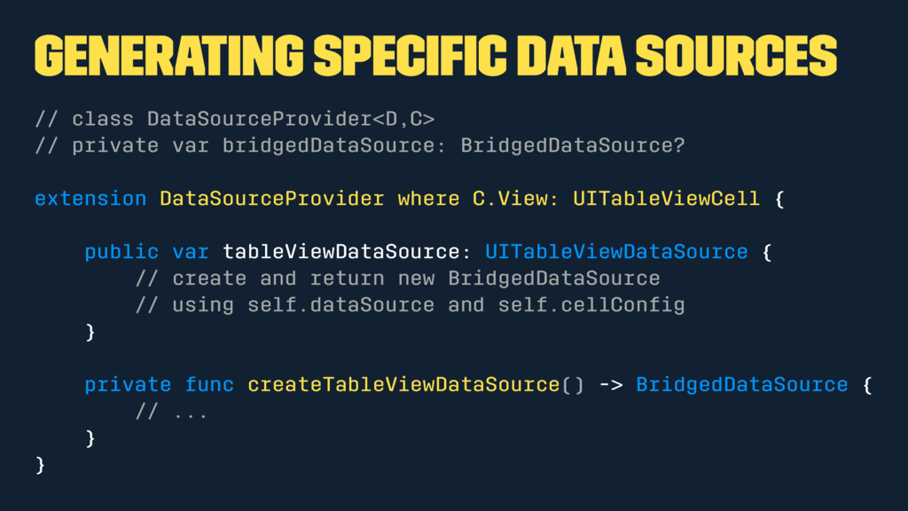 Generating specific data sources // class DataSo...