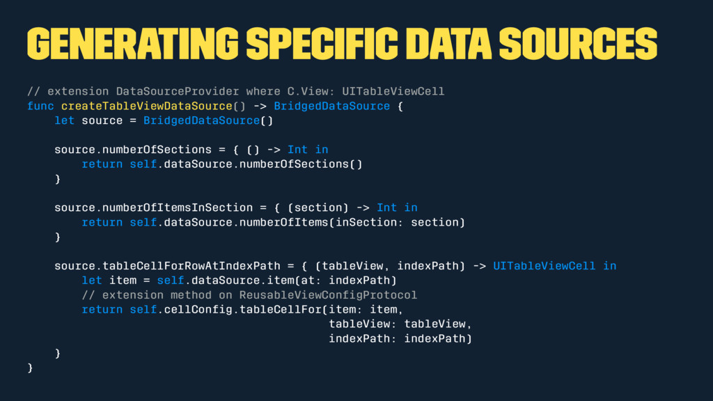 Generating specific data sources // extension Da...