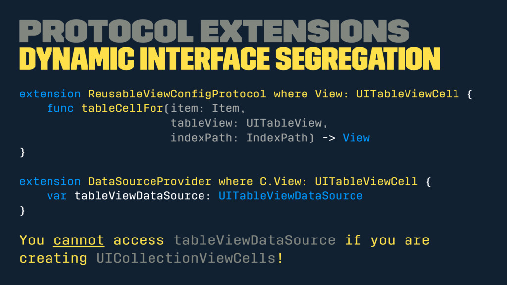 Protocol Extensions Dynamic interface segregati...