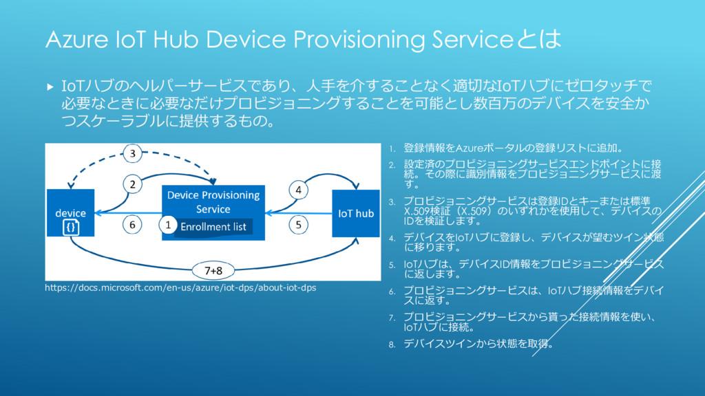 Azure IoT Hub Device Provisioning Serviceとは  I...
