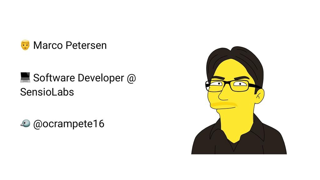"! Marco Petersen "" Software Developer @ SensioL..."