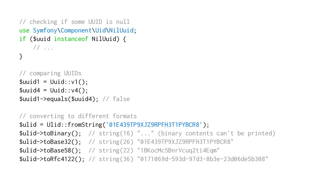 // checking if some UUID is null use Symfony\Co...