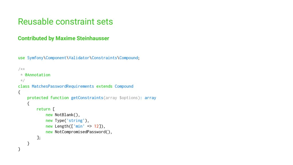 Reusable constraint sets Contributed by Maxime ...