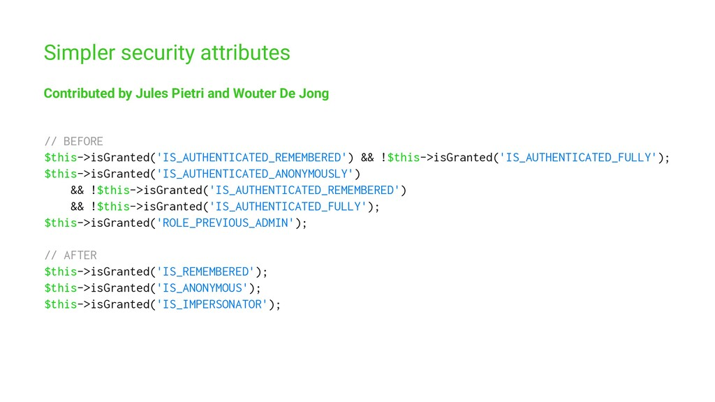 Simpler security attributes Contributed by Jule...