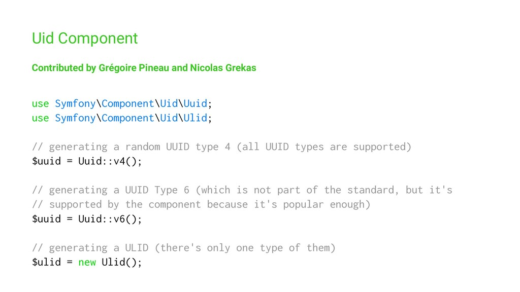 Uid Component Contributed by Grégoire Pineau an...