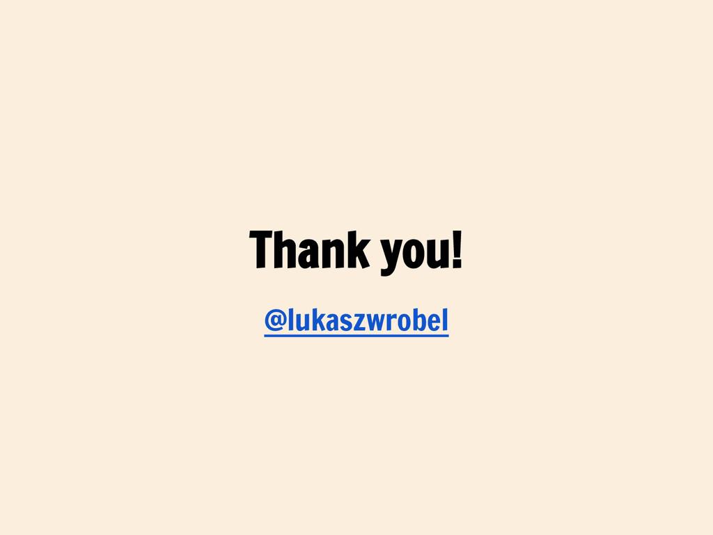 Thank you! @lukaszwrobel