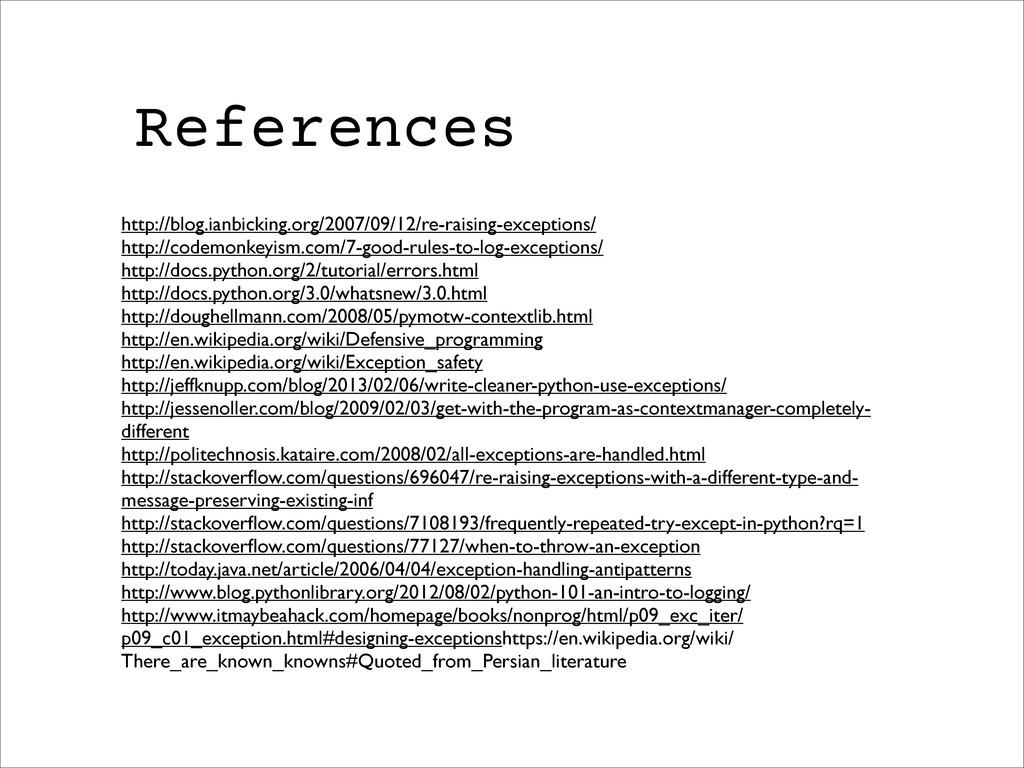 References http://blog.ianbicking.org/2007/09/1...