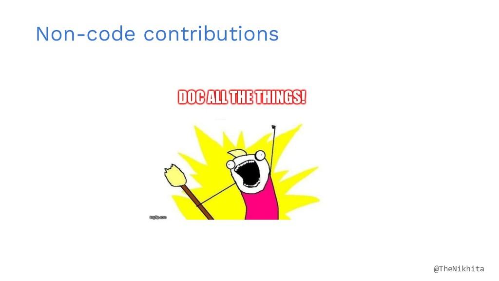 Non-code contributions @TheNikhita