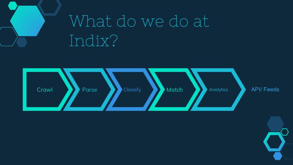 Crawl Parse Classify Match Analytics API/ Feeds...