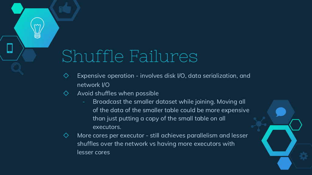 Shuffle Failures ◇ Expensive operation - involv...