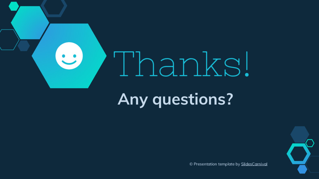 Thanks! Any questions? © Presentation template ...