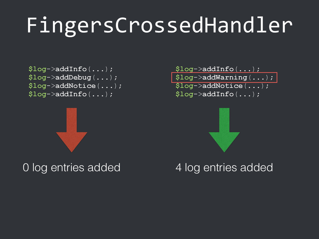 FingersCrossedHandler $log->addInfo(...); $log-...