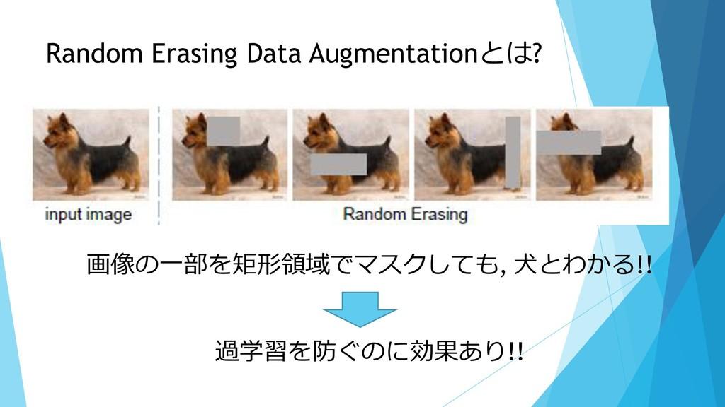 Random Erasing Data Augmentationとは? 画像の一部を矩形領域で...