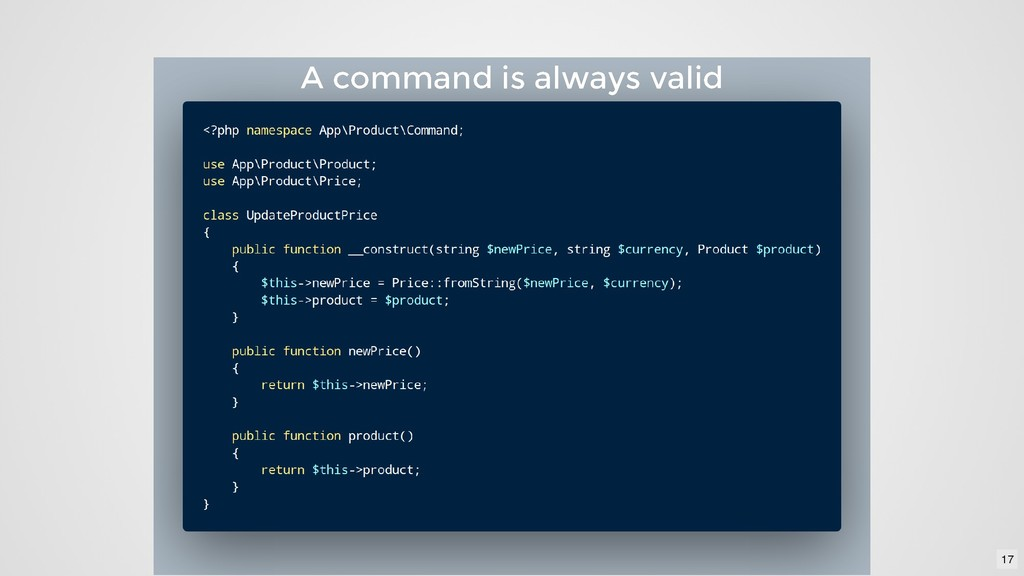 A command is always valid A command is always v...