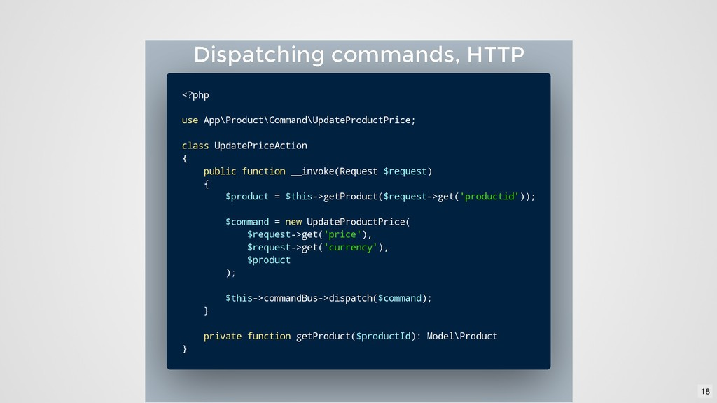Dispatching commands, HTTP Dispatching commands...