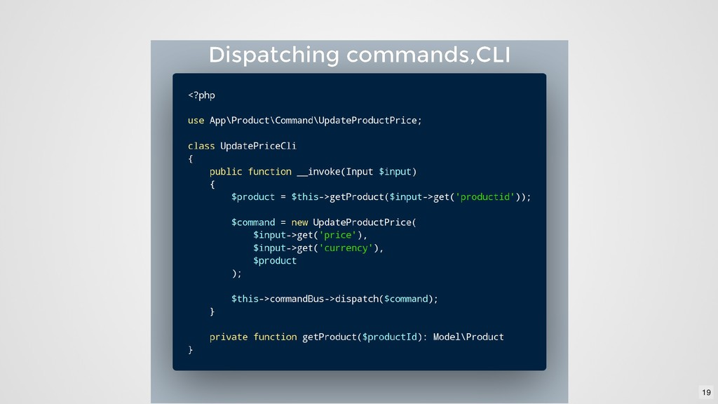 Dispatching commands,CLI Dispatching commands,C...