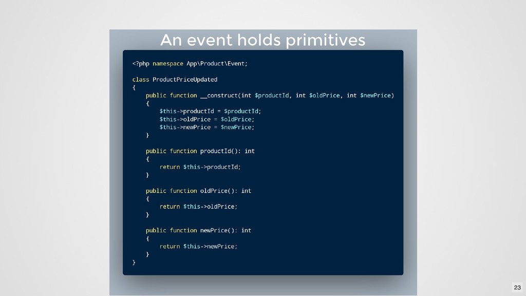 An event holds primitives An event holds primit...