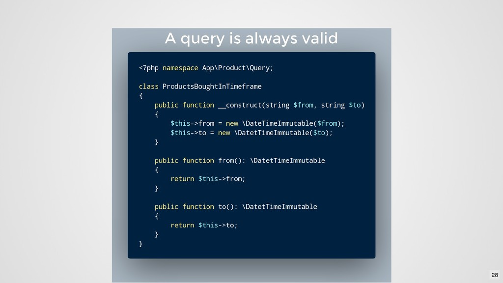 A query is always valid A query is always valid...