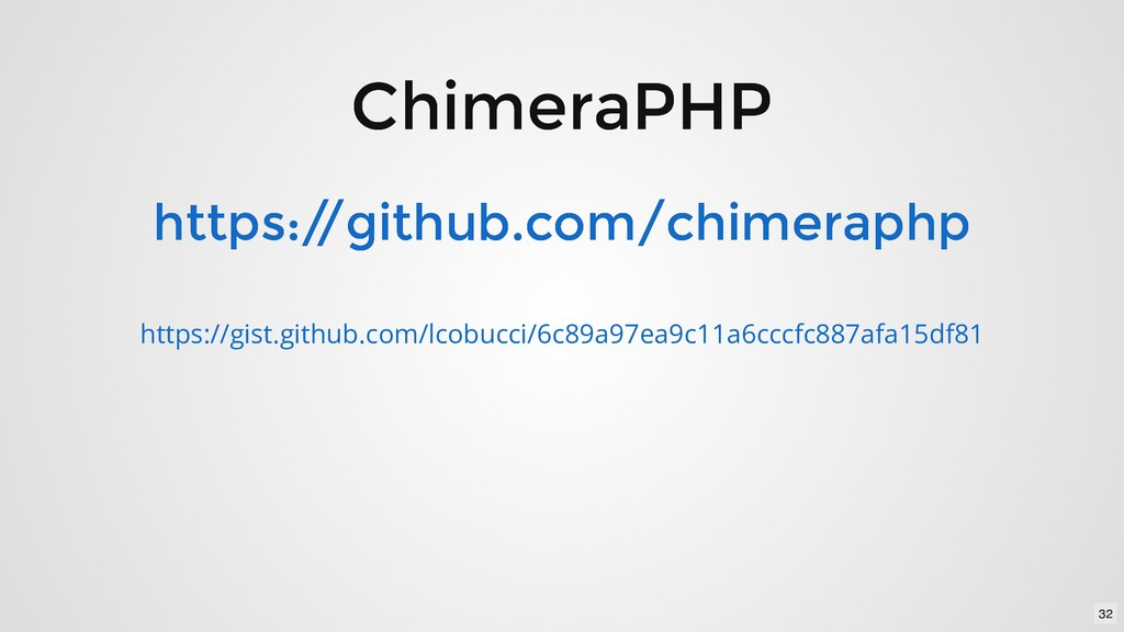 ChimeraPHP ChimeraPHP https:/ /github.com/chime...