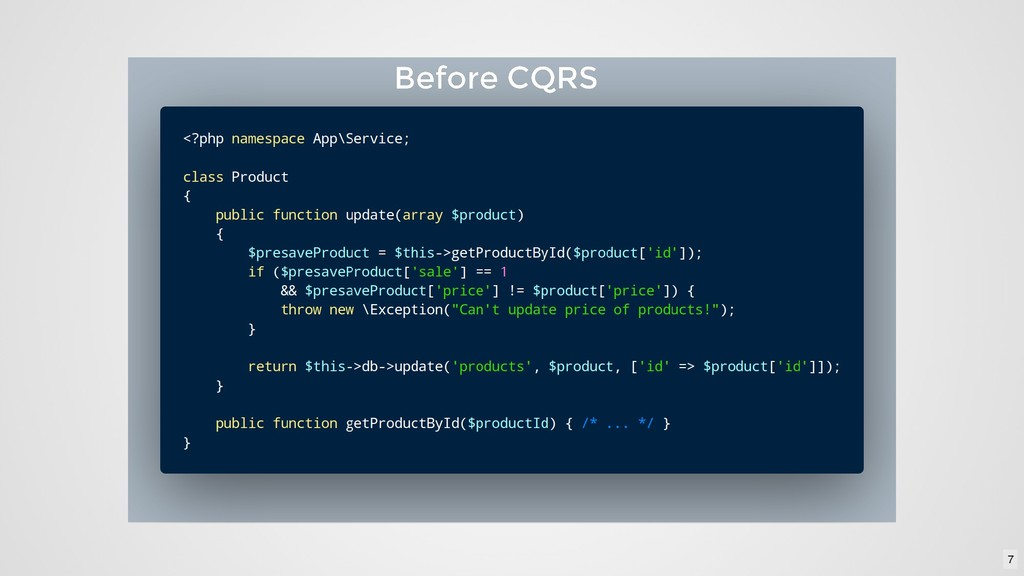 Before CQRS Before CQRS 7