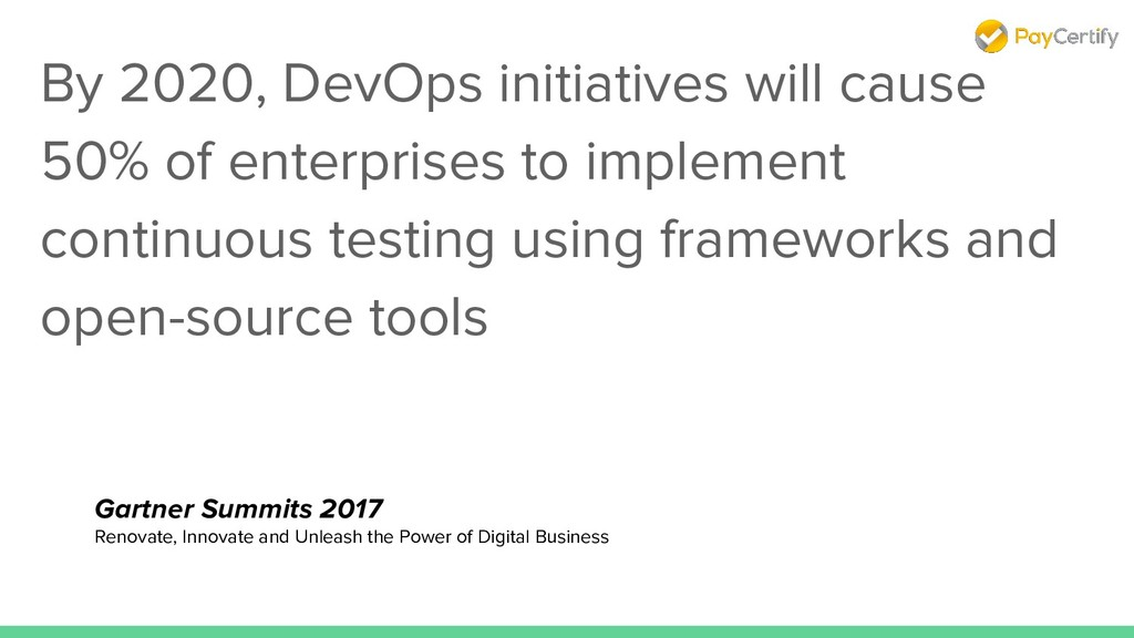 By 2020, DevOps initiatives will cause 50% of e...