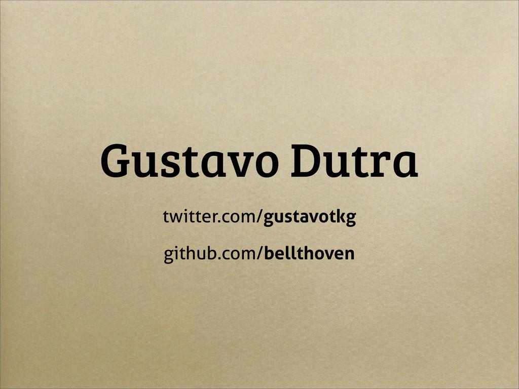 Gustavo Dutra twitter.com/gustavotkg github.com...