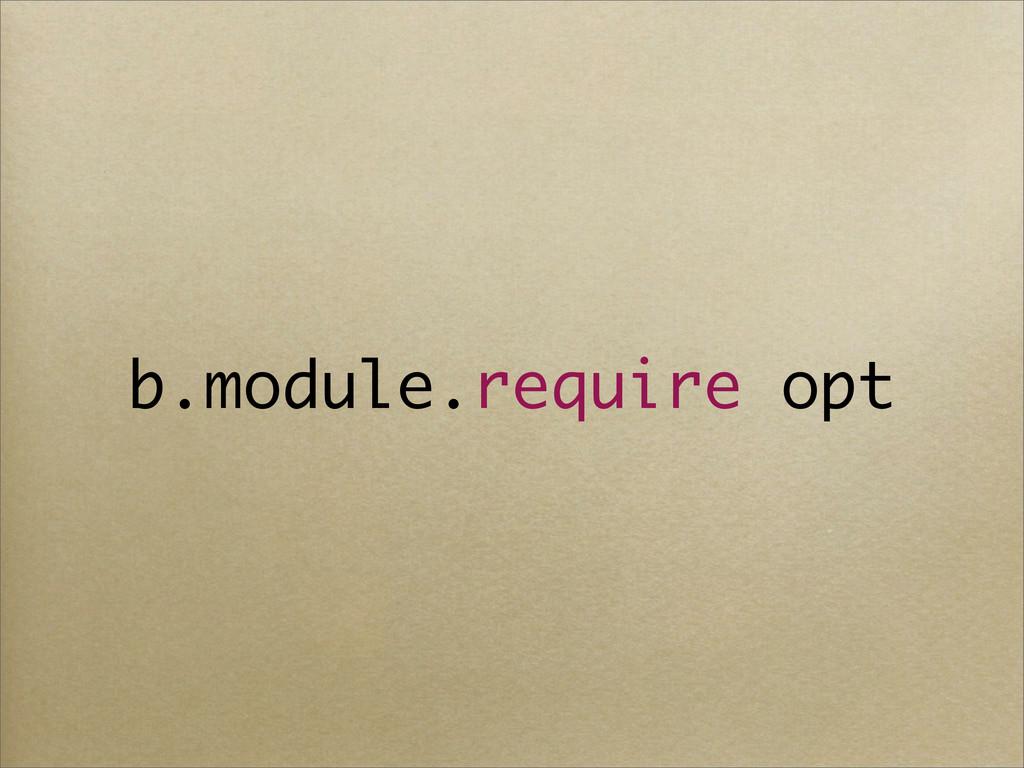b.module.require opt