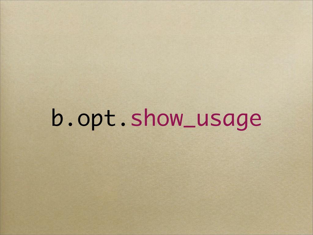 b.opt.show_usage