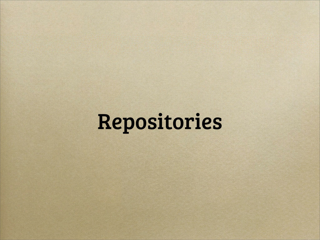 Repositories