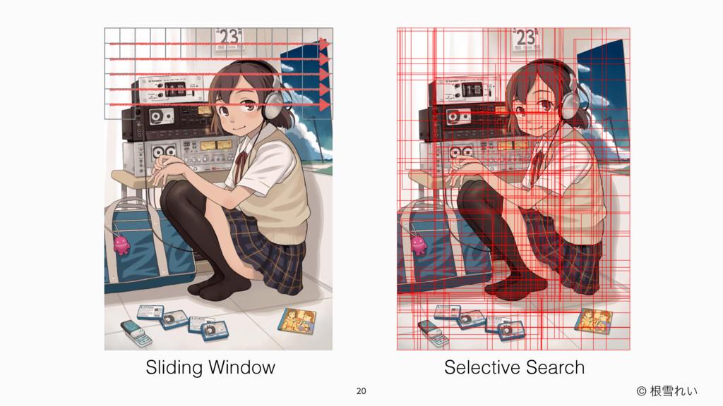 © ࠜઇΕ͍ Sliding Window Selective Search