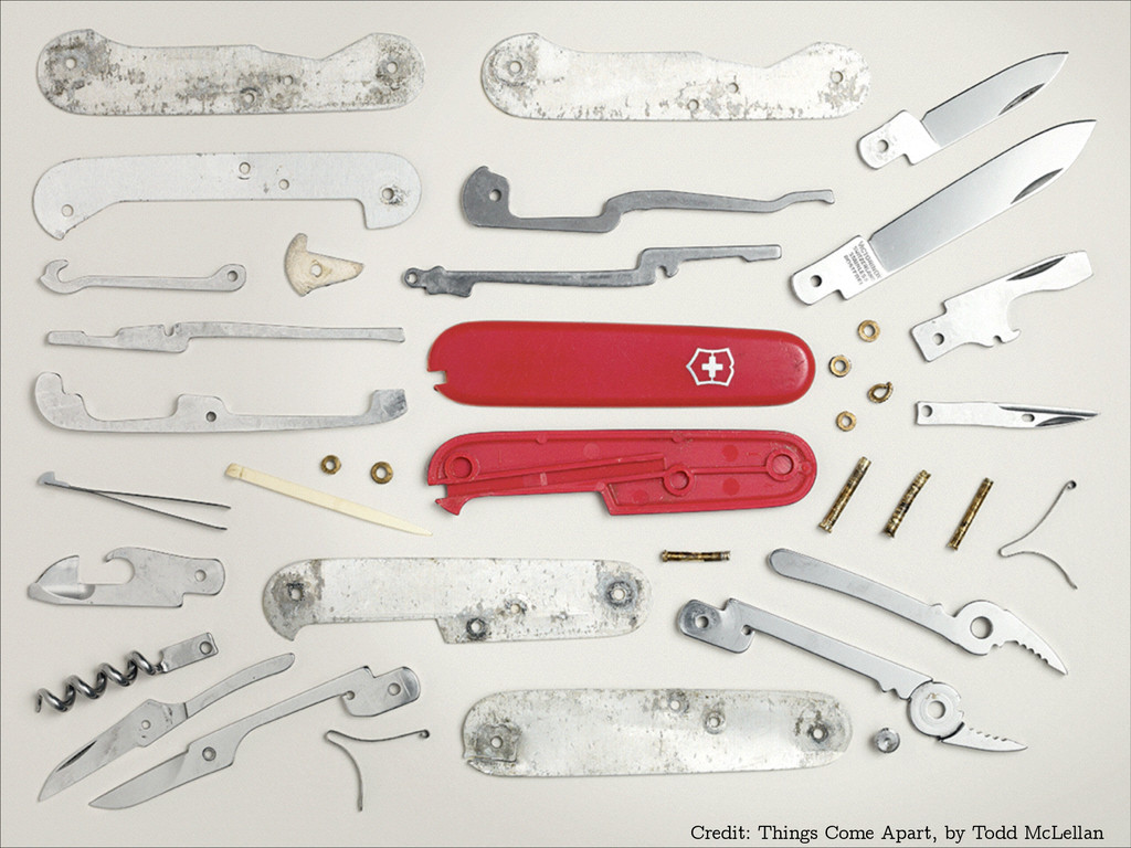Credit: Things Come Apart, by Todd McLellan
